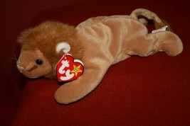 Ty Beanie Babies Original ROARY Lion NEW PVC 1996 MINT Plush Stuffed Ani... - $9.29