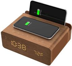 ION BLUETOOTH WIRELESS STEREO ALARM CLOCK DUAL USB QI CHARGE STATION CHA... - $117.88 CAD