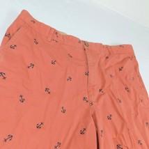 IZOD Saltwater Red Salmon Denim Shorts W 42 Anchor - $25.99