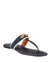 Tory Burch Jessa Thong Sandals Perfect Navy Size 6 MSRP: $258.00 - $183.15