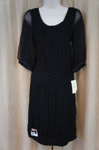 ECI New York Dress Sz 2 Black Front Tiered Style Business Cocktail Dress - $19.71