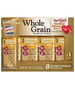 Lance Whole Grain Sandwich Crackers, Cheddar Cheese, 8 Count (Pack of 14) - $63.63