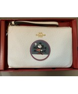 NWT Coach Disney LEATHER Boxed MINNIE MOUSE Small Travel Wristlet Purse Wallet - $90.00