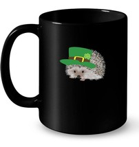 Cute and Funny Graphic Hedgehog St Patricks Day Ceramic Mug - $13.99+