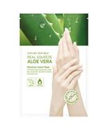 [ Nature Republic ] Real Squeeze Aloe Vera Moisture Hand Mask 14ml - $6.53