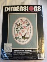 Hummingbirds & Columbine Flowers 1993 Dimensions NO COUNT Cross Stitch K... - $11.88