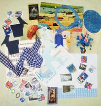 Blue Mixed Media Altered Art Inspiration Kit - 50 pcs - Found Objects - ... - $5.99
