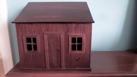 VINTAGE BOMBAY COMPANY Wood HOUSE Mail Letters Bills Box EXCELLENT - $14.85