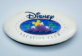 Vintage Disney Vacation Club Oval 4 Inch Collectible Pinback Button Rare - $3.15