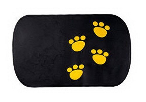 Lovely Footprint Anti Slip Mat Car Non-slip Mat BLACK 1 Pcs