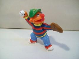 Vintage Sesame Street Baseball Player Ernie Pvc Figure Applause Muppets - $10.73