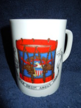 Vintage Creative Fine China Civil War Drum Mug No.5 - $3.99