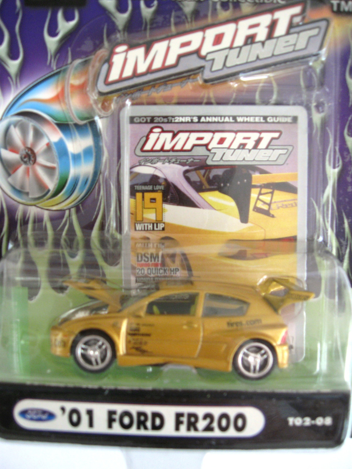 2002 Muscle Machines Die Cast Adult Collectible - Import Tuner - '01 Ford FR200