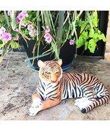 "Large Raja The Royal Bengal Tiger Resting Gracefully 15.5"" Long Statue J... - $44.50"