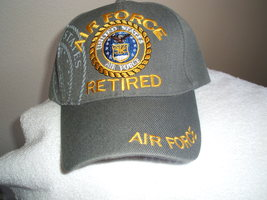Air Force Retired w/Emblem & Shadow on a Slate Gray ball cap  - $20.00