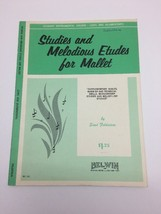Studies and Melodious Etudes for Mallets Book Saul Feldstein Level 1 Mar... - $13.83
