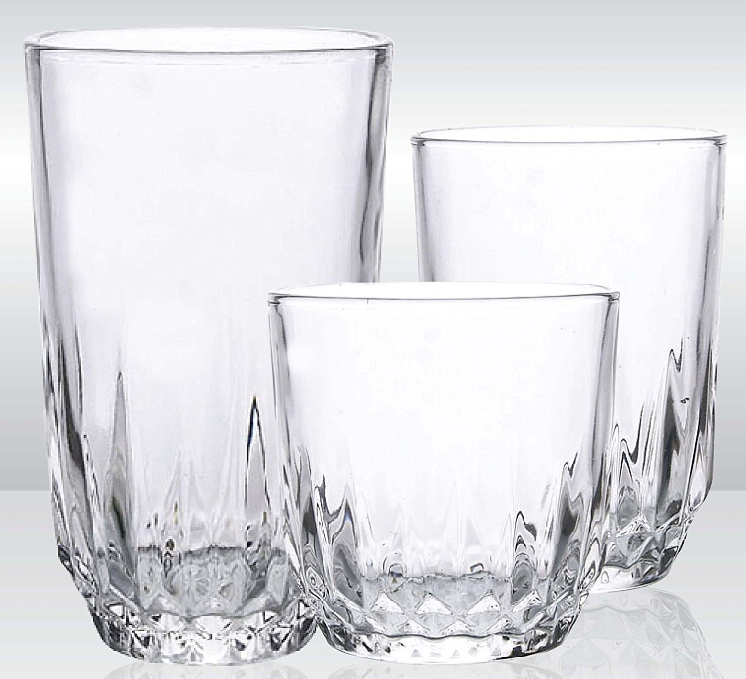 Glassware Drinking 18-Piece Set Water and Juice Best and Unique Drinking Glasses