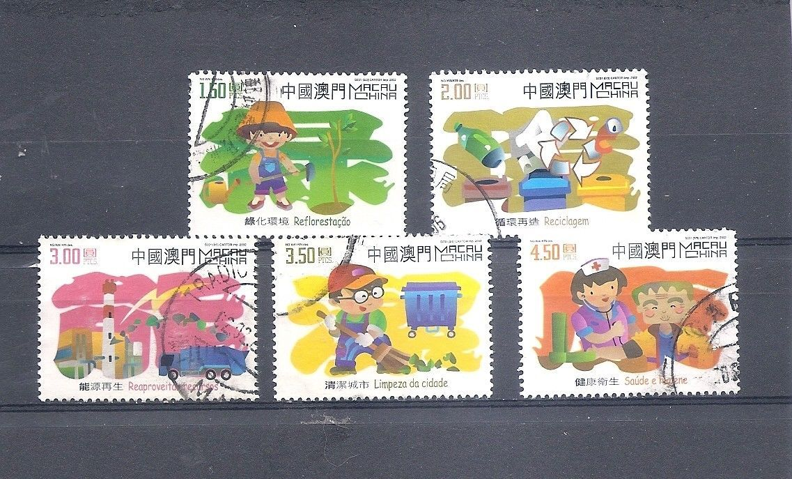 Primary image for MACAU MACAO 2002 Environment Short set Scott 1093 // 1099 Fine used