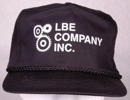 Vtg LBE Company Inc Hat-Rope Bill-Trucker Cap-Black-Snapback-Appliance I... - $26.17