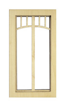 DOLLHOUSE MINIATURE 1:12 SCALE BRIDGE WINDOW #AM2199 - $7.80