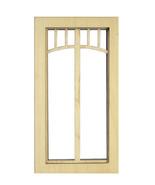 DOLLHOUSE MINIATURE 1:12 SCALE BRIDGE WINDOW #AM2199 - $7.80