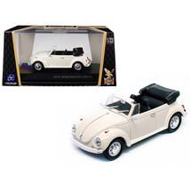 1972 Volkswagen Beetle Open Top Convertible Cream 1/43 Diecast Model Car by R... - $28.86