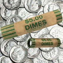 72 Rolls Preformed Coins Dimes Wrappers Paper Tubes 10 Cent Shotgun Coun... - $12.51