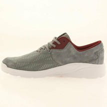 Supra Noiz Steel/Burgundy-White Suede Jacquard Lightweight Skateboarding Shoes image 2