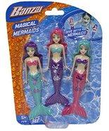 Fun Stuff Banzai Spring and Summer 3 Piece Magical Mermaid Dolls, in Ass... - $6.88