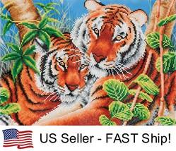 Diamond Dotz Tender Tigers 5D Diamond Painting Embroidery Facet Kit - $35.95