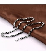 "3/4/5/7/9/10/12 MM MEN'S 7-40"" STAINLESS STEEL SILVER FIGARO ROPE CHAIN - $4.99"