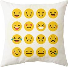 Gift Wrap Emoticons digital printed cushion cover (16x16 inch) - £15.27 GBP