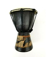 """8"""" inch Djembe Drum Made in Indonesia Lizard Carving Pre-Owned - $28.01"""