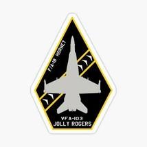 USMC VFA-103 Jolly Rogers  F-A-18 Hornet Patch style design Sticker - $9.89