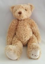 FAO Teddy Bear Beige Tan Metal Button Tag Toys R Us 2011 Plush Stuffed A... - $15.79