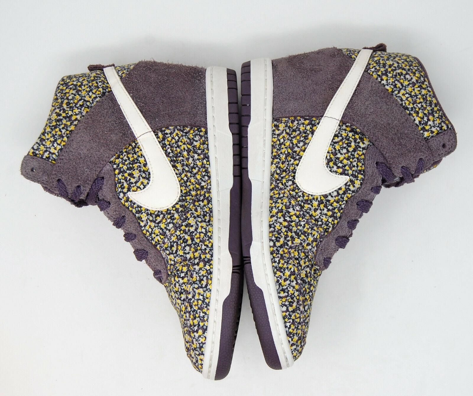 NIKE Dunk Sky Hi Liberty Purple hidden heel wedge sneaker 7.5