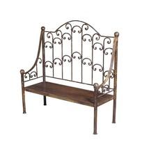 62'' Ornate Iron Patio Garden Bench Porch Path Chair Outdoor Deck Outdoors - $975.15
