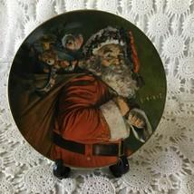 Avon The Magic That Santa Brings Porcelain Collector Plate 1987 22 K Gol... - $11.63