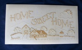 Linen Home Sweet Home Hand Embroidered Finished Ready To Frame Or Make P... - $49.99