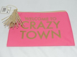 Mary Square 7961 Pink Gold Zipper Tassel Crazy Town Pouch image 2