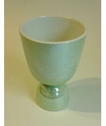 Egg Cup Double Sided Green White Porcelain Vintage Ceramic Pottery Colle... - $20.00