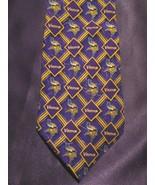 Vintage Minnesota Vikings NFL Football 100% Silk Tie by Eagle Wings - $29.70