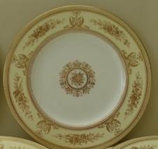 Vintage Wedgwood Columbia Raised Gold Dinner Plates Set of 10 - $799.00