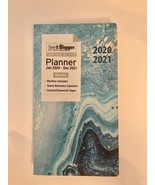 PlanAhead 2020-2021 Pocket Planner- See It Bigger Monthly Agenda Blue Ma... - $11.87