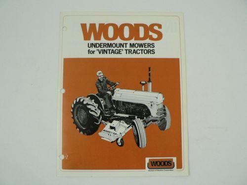 VTG Woods Undermount Mower International John Deere Allis Chalmers Ford Brochure - $30.00
