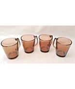 Set of 4 Corning Pyrex Vision Fireside Amber Coffee Mugs #1400 - $14.84