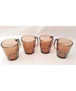 Set of 4 Corning Pyrex Vision Fireside Amber Coffee Mugs #1400 - $19.99