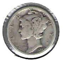 Nice 1929 P Mercury dime - $4.00
