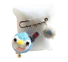 Cute Cartoon Animal Wool Felt Brooch Pin Clothing Accessories, Little Penguin