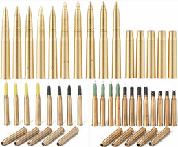 3 Tamiya Brass Diorama Projectiles - King Tiger 88mm, Panther 75mm, Tige... - $29.69